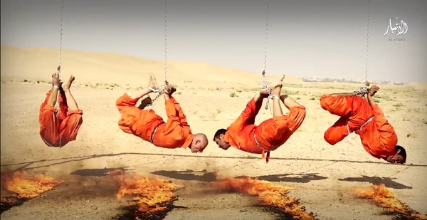 WARNING VERY Horrific Photos: ISIS Sets Four Men Ablaze In ...