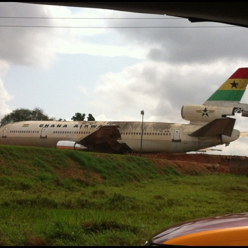Ghana Airways plane, soon to be a restaurant..... - Dr JOT ...