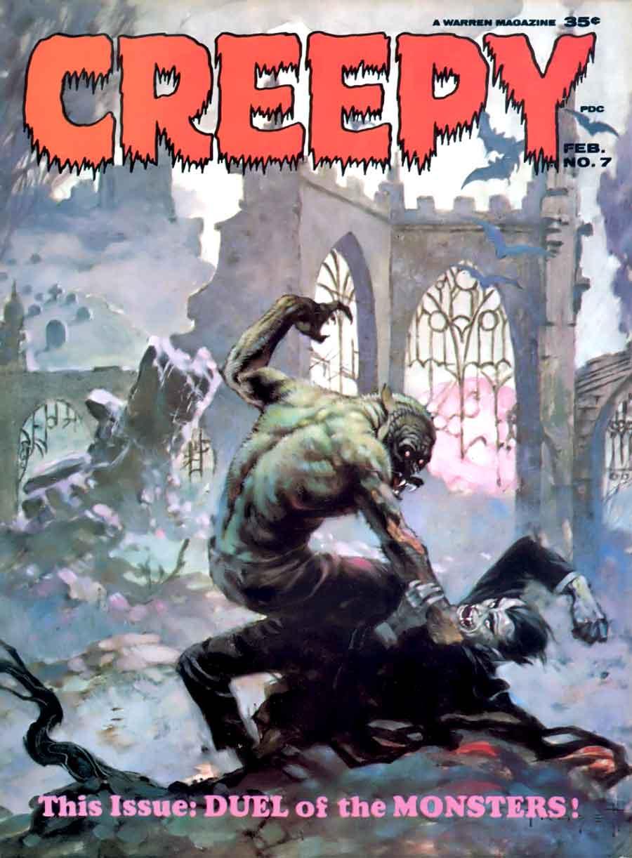 Creepy #7 - Frank Frazetta art & cover, Alex Toth art ...