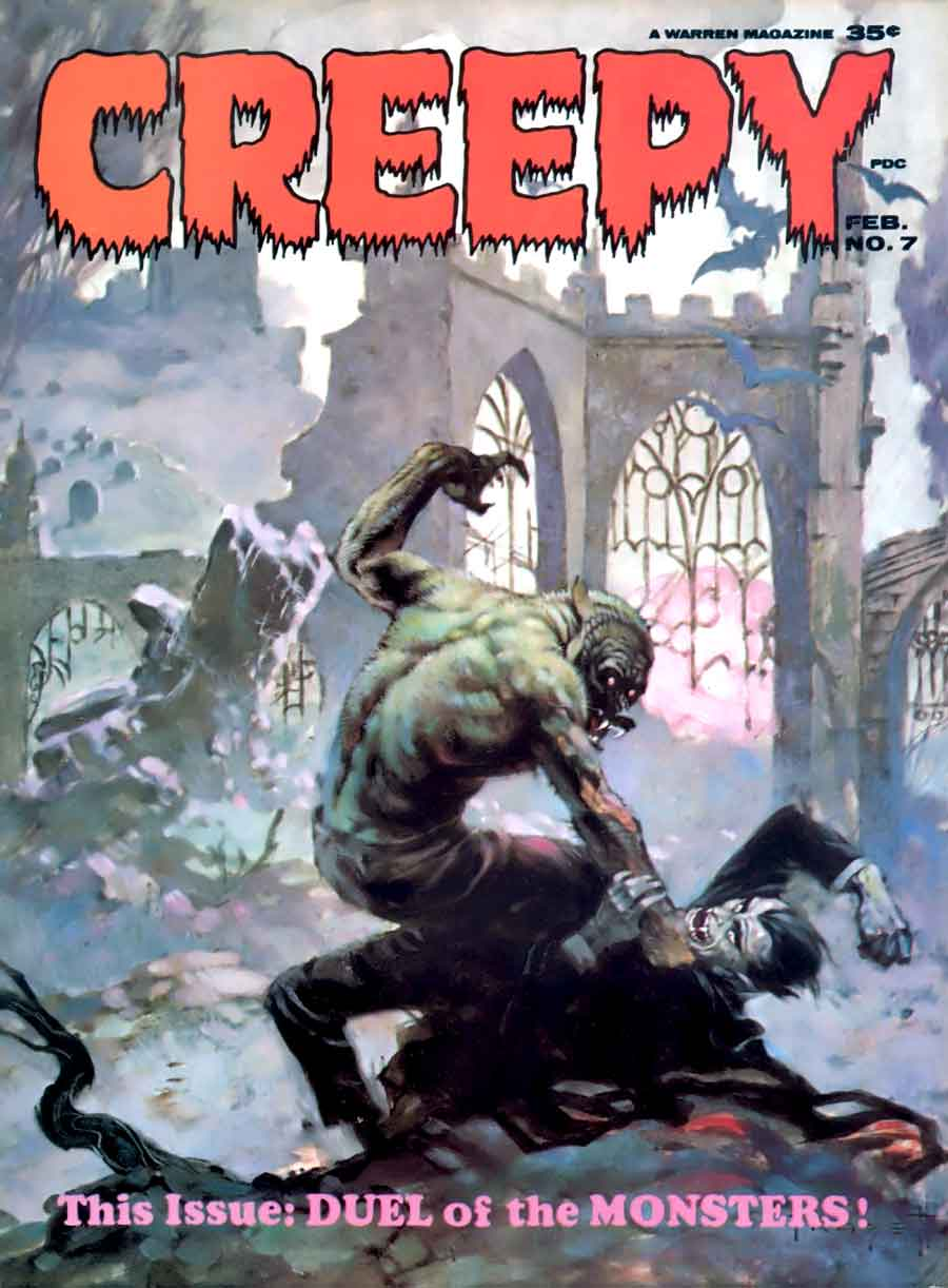 Creepy #7 - Frank Frazetta art & cover, Alex Toth art ...