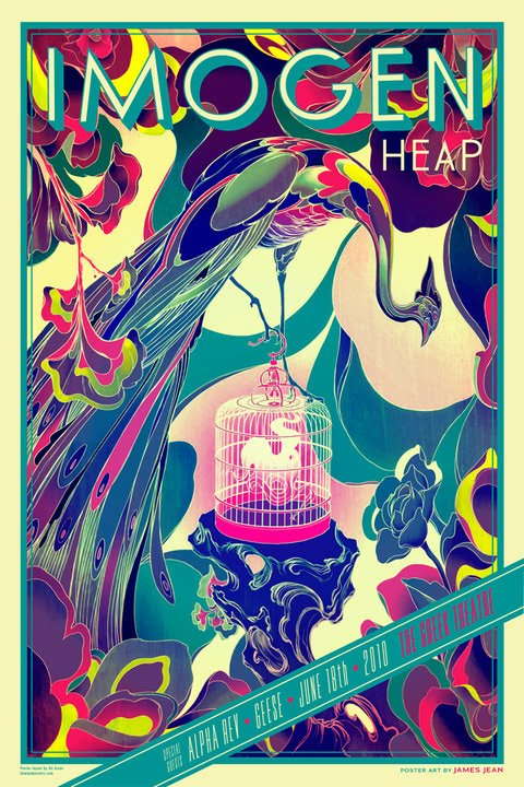INSIDE THE ROCK POSTER FRAME BLOG: James Jean Imogen Heap ...