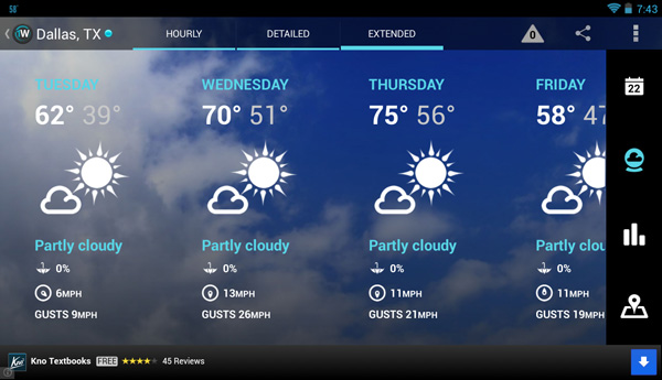 1Weather: Tablet Support and Updated UI | Android CowboyAndroid Cowboy