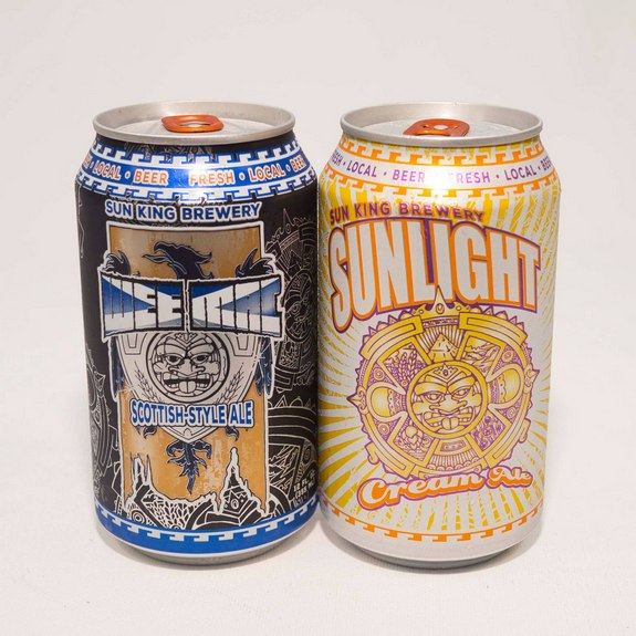 Sun King Brewery cans