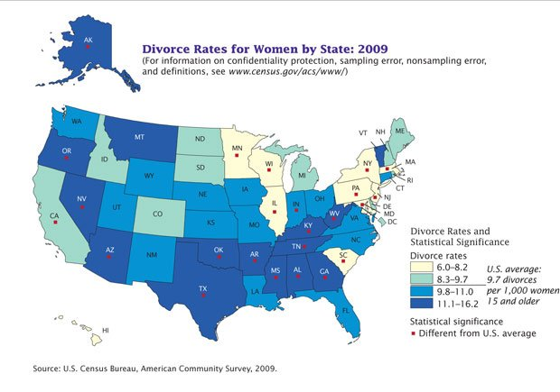 Census: Arizonaâs marriage, divorce statistics higher than ...