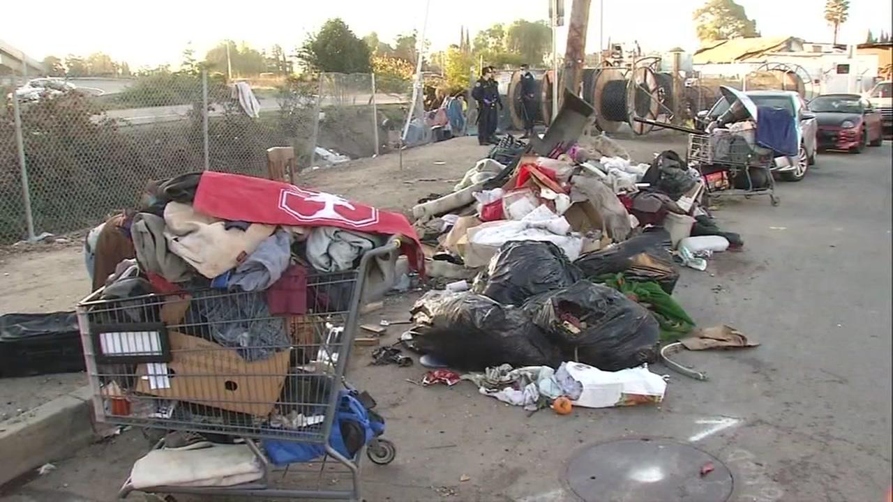 Caltrans cleaning San Jose 'Googleville' homeless ...