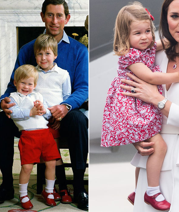 Princess Charlotte re-wears uncle Prince Harry's red shoes ...