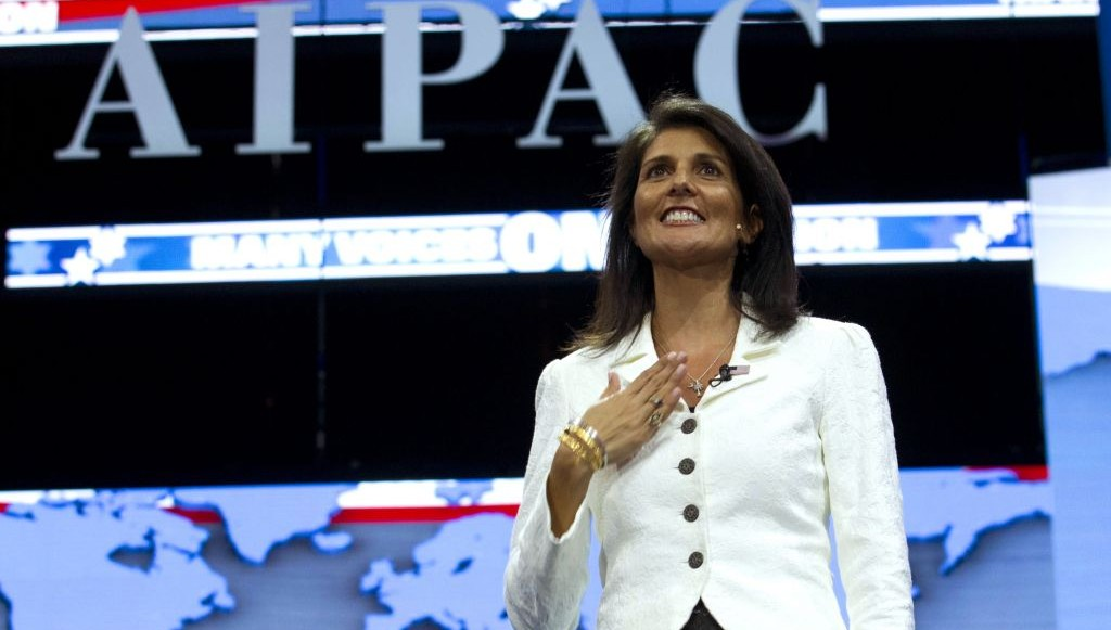 "Times of Israel: Nikki Haley ""A Zionist Star"" Shines for ..."