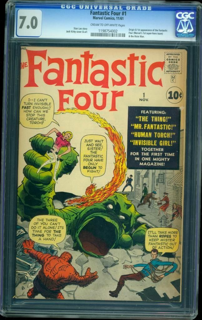The Fantastic Four #1 Comic Book Graded CGC 7.0 Sold For ...