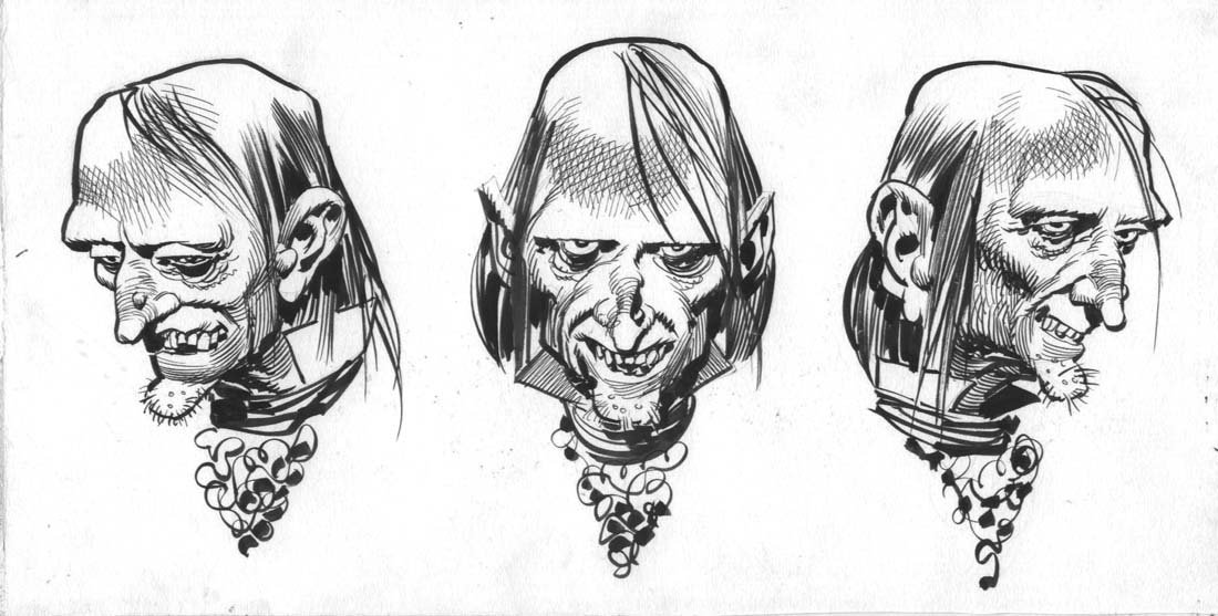 Uncle Creepy Model Sheet, in Jim Warden's Davis, Jack ...