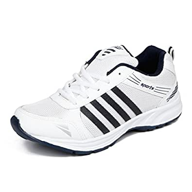 Asian Shoes Wonder 13 White Navy Blue Men's Sports Shoes ...
