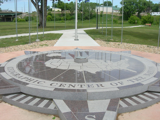 Geographic Center of United States Monument | Belle ...