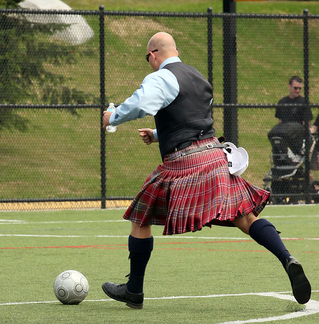 guy wearing kilt playing soccer | Flickr - Photo Sharing!