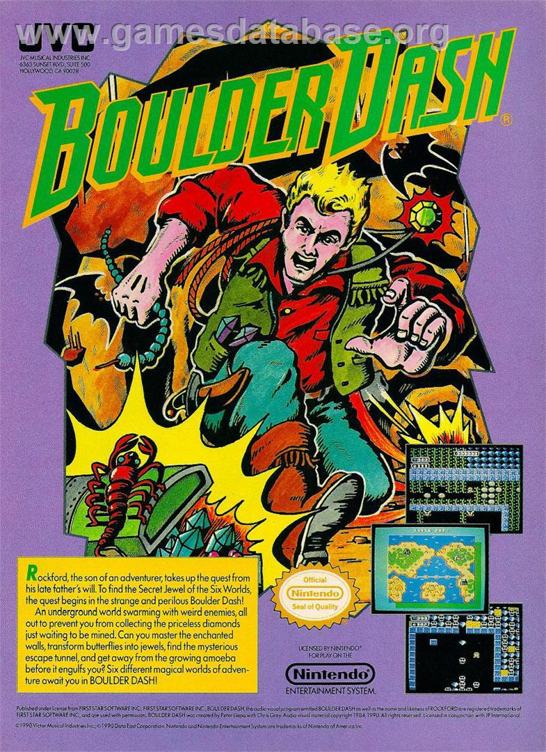 Boulder Dash - Nintendo NES - Games Database