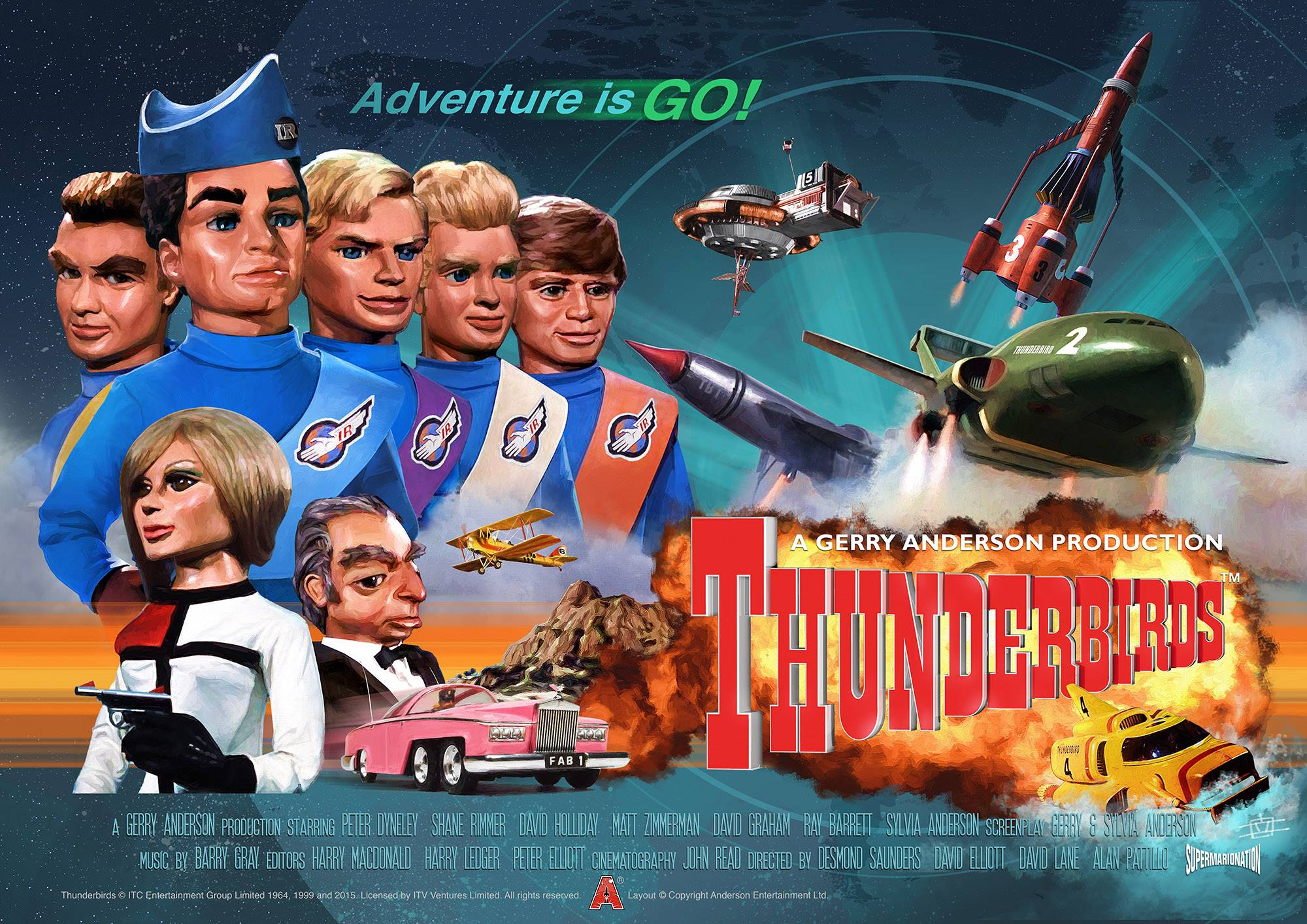 Official Limited Edition Thunderbirds Poster Released