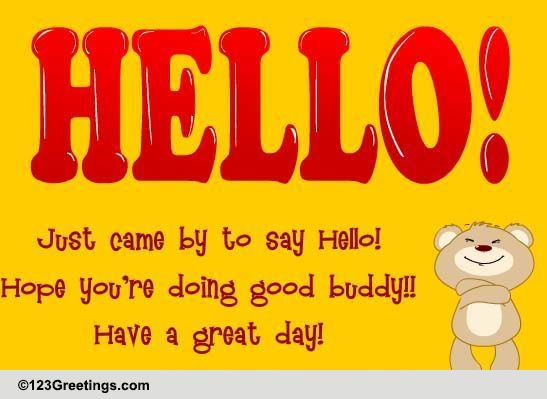 A Hug And A Hello! Free Hello eCards, Greeting Cards | 123 ...