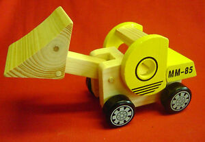 New Wooden Paver Truck with Moving Parts Traditional Toy ...