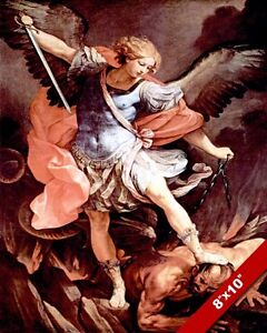 MICHAEL-ARCHANGEL-DEFEATING-SATAN-WAR-IN-HEAVEN-PAINTING ...