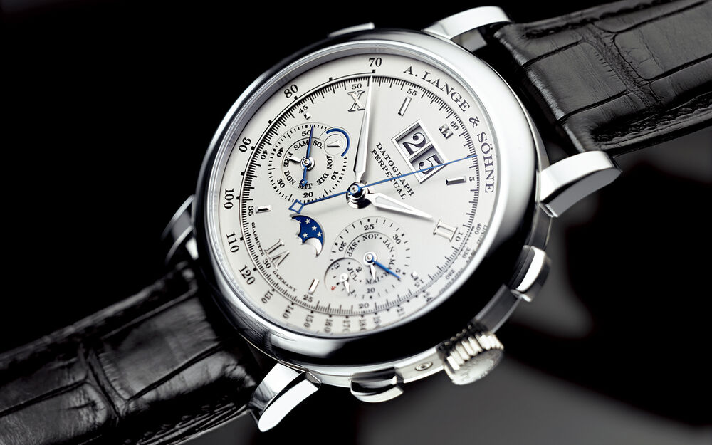 A. Lange & Sohne Datograph Perpetual 41mm Platinum Flyback ...