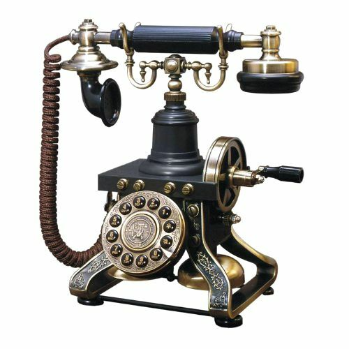 Black Vintage Telephone Retro Rotary Plate Old Phone Cord ...