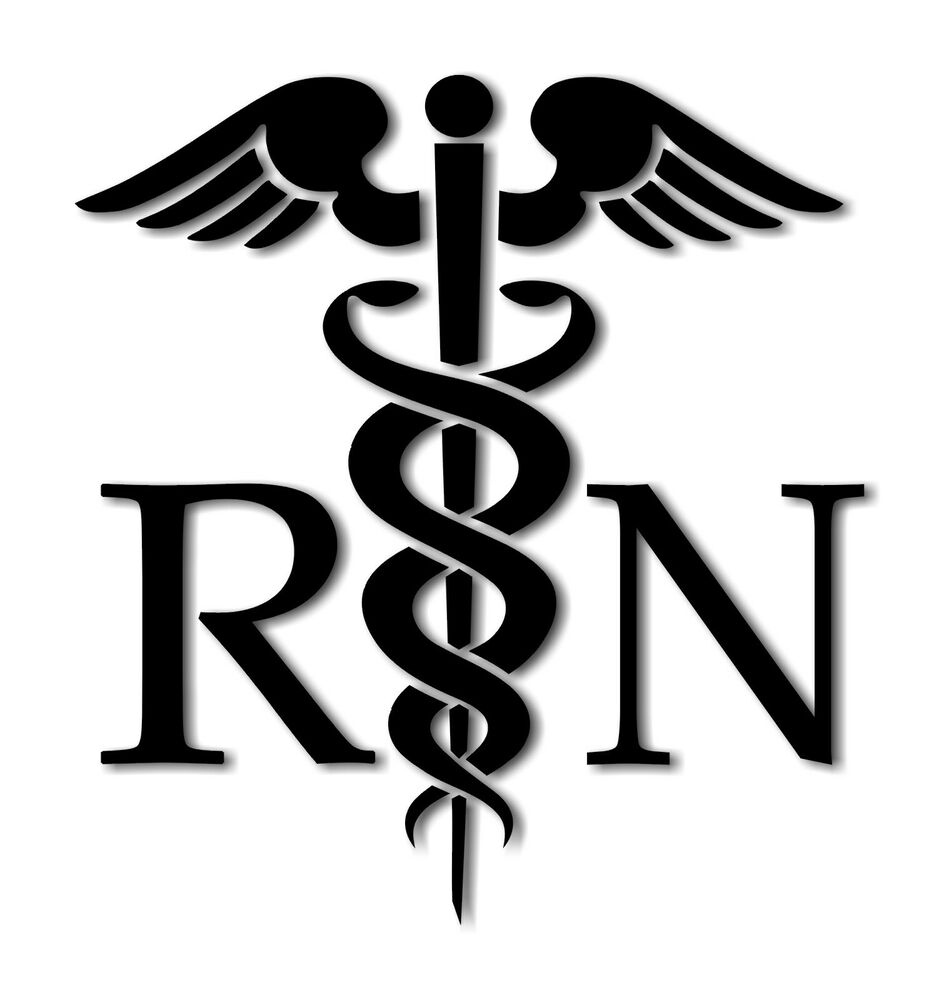 Caduceus Medical Symbol RN Decal Vinyl Sticker Sizes ...