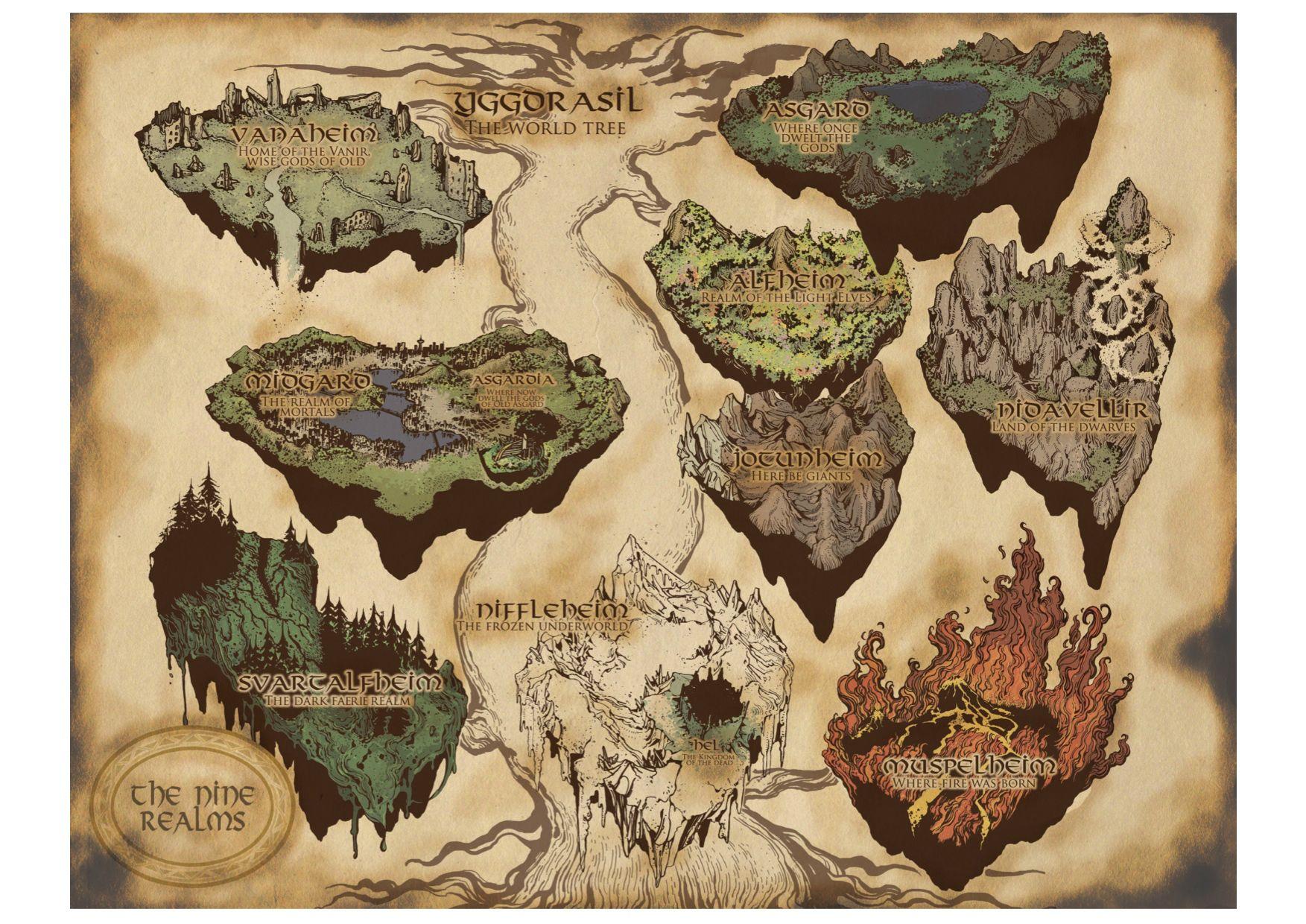 The Nine Worlds of Yggdrasil - Imgur