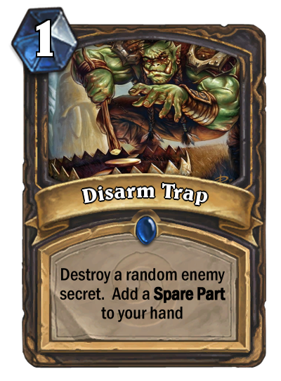My take on Disarm Trap : customhearthstone