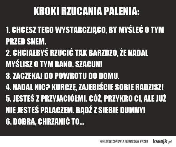 Kroki rzucania palenia - KWEJK.pl - najlepszy zbiór ...