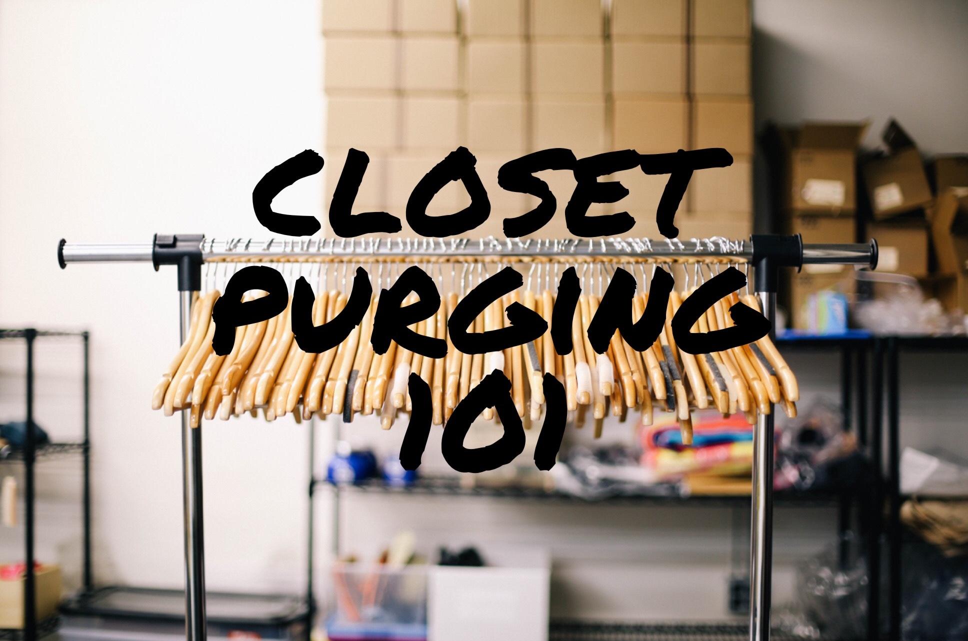 Tremendous Times - Closet Purging 101 - Tremendous Times