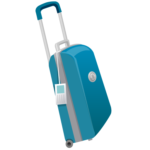 Suitcase Icon | Summer Blue Iconset | DaPino