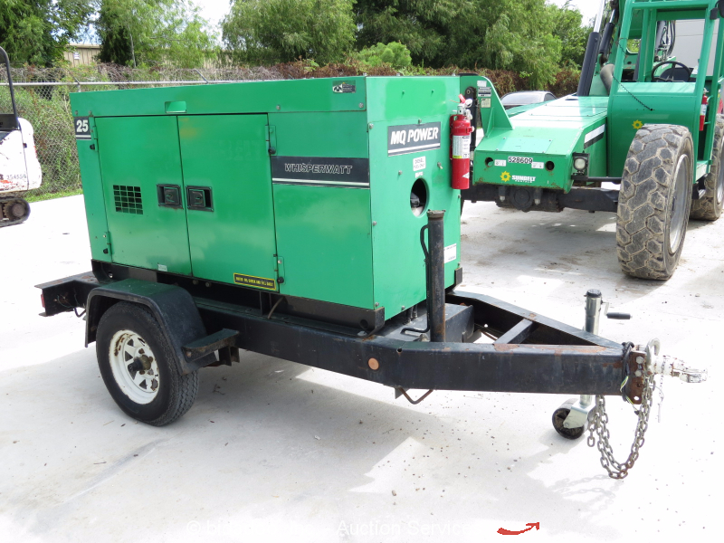 2007 Multiquip DCA-25SSIU2 20 kW Towable Generator 25 kVA ...