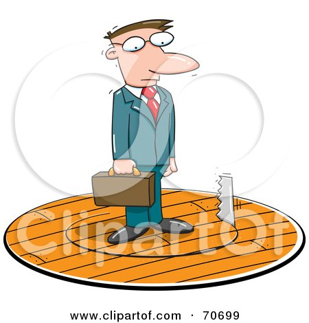 Royalty-Free (RF) Clipart Illustration of a Saw Cutting A ...