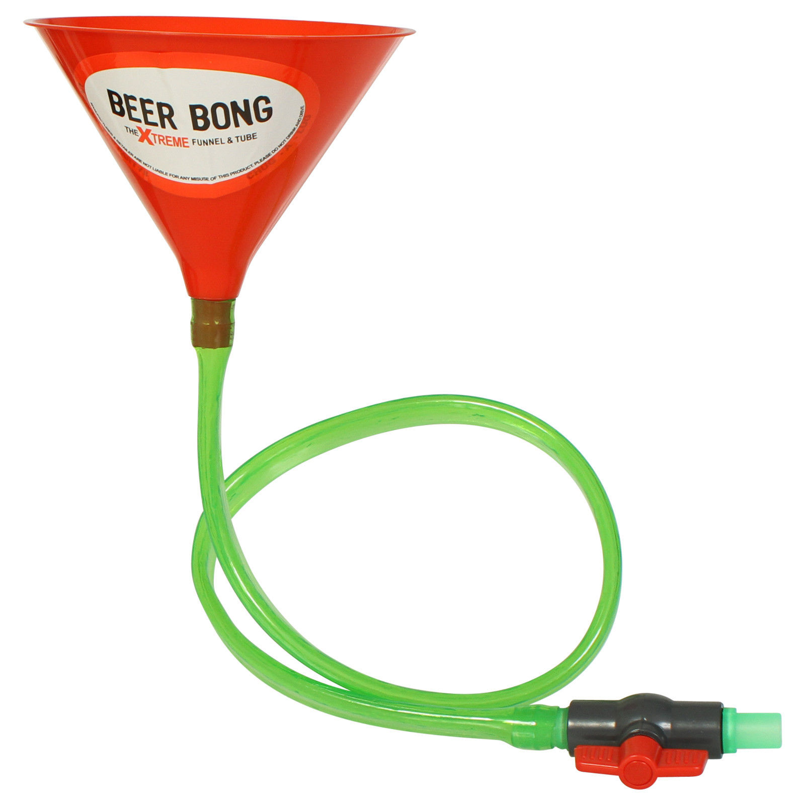 The Xtreme Drinking Funnel & Tube Beer Bong With Stop ...