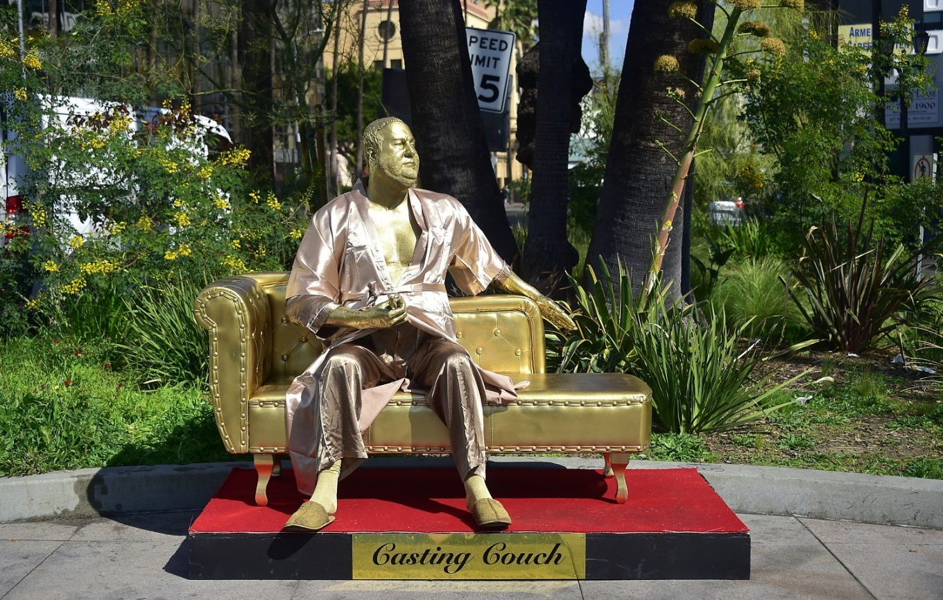 Harvey Weinstein 'Casting Couch' sculpture graces ...