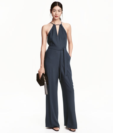 Jumpsuit | Dark blue | Ladies | H&M US