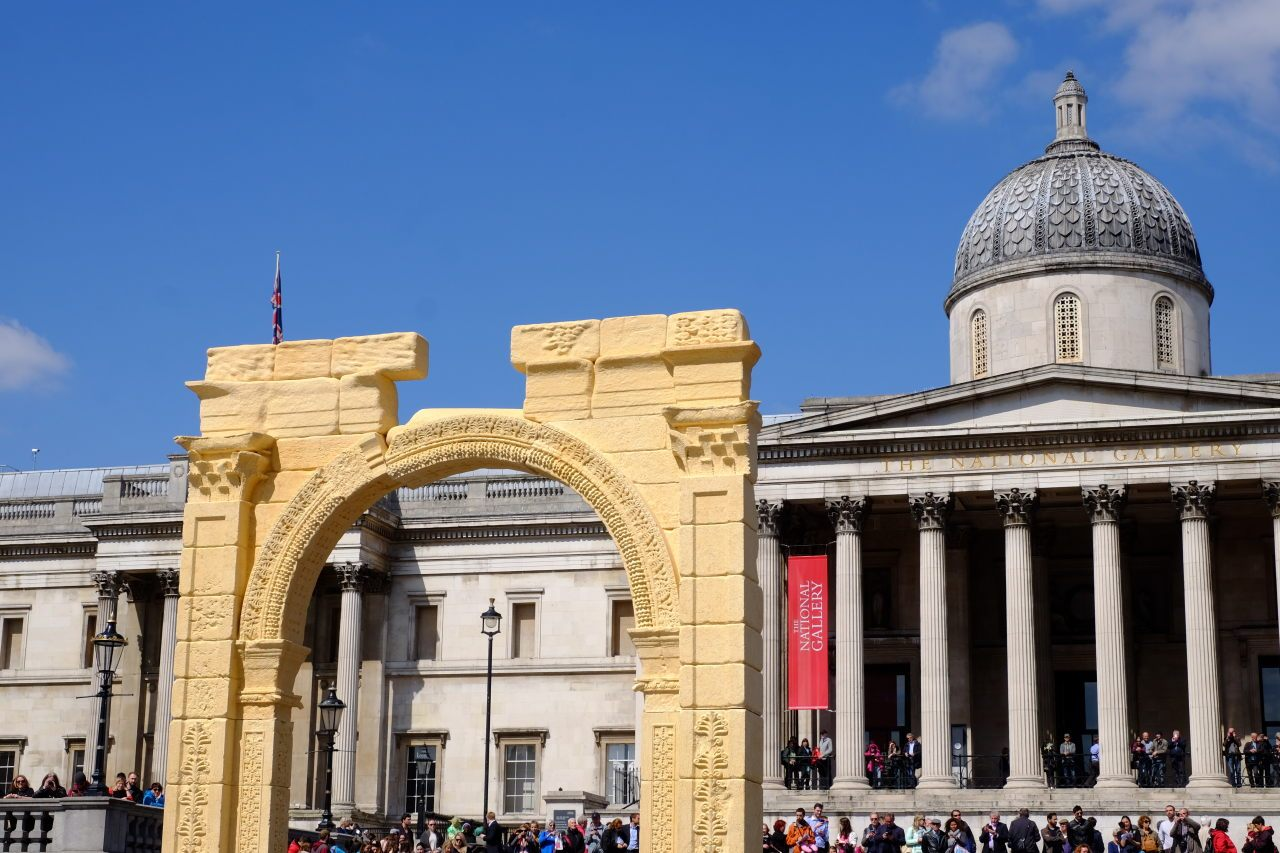 IN PICTURES: Palmyra Arch Recreated in London's Trafalgar Square