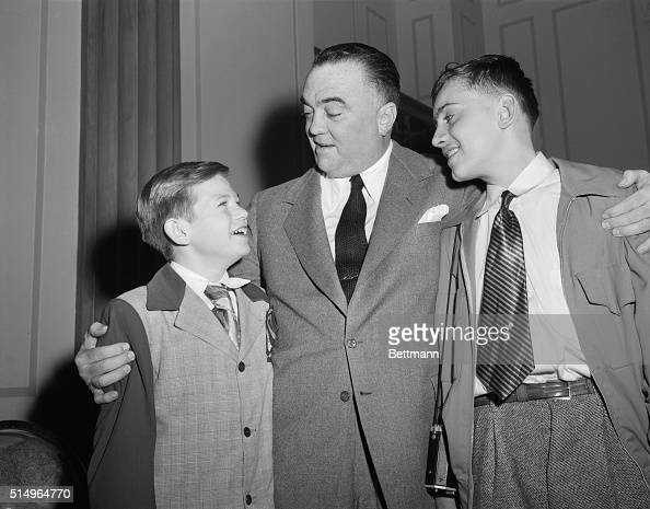 J. Edgar Hoover Congratulating Two Boys Pictures | Getty ...