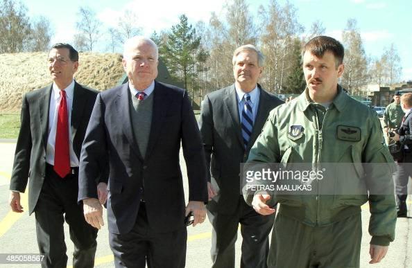 US Senators John Barrasso (L), John McCain (2L), John ...