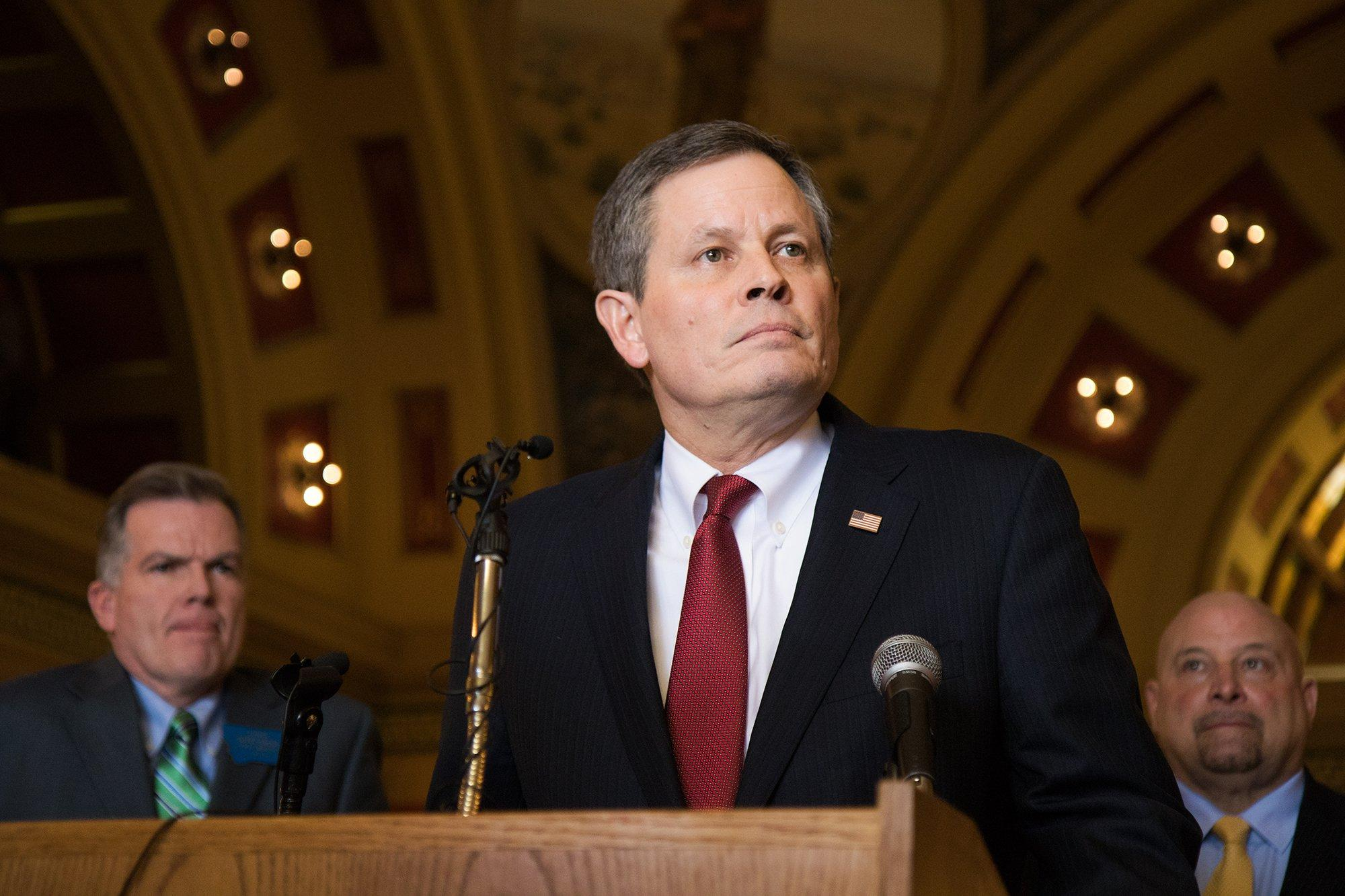 Daines Stumps For Gorsuch, Spars With Protesters At ...