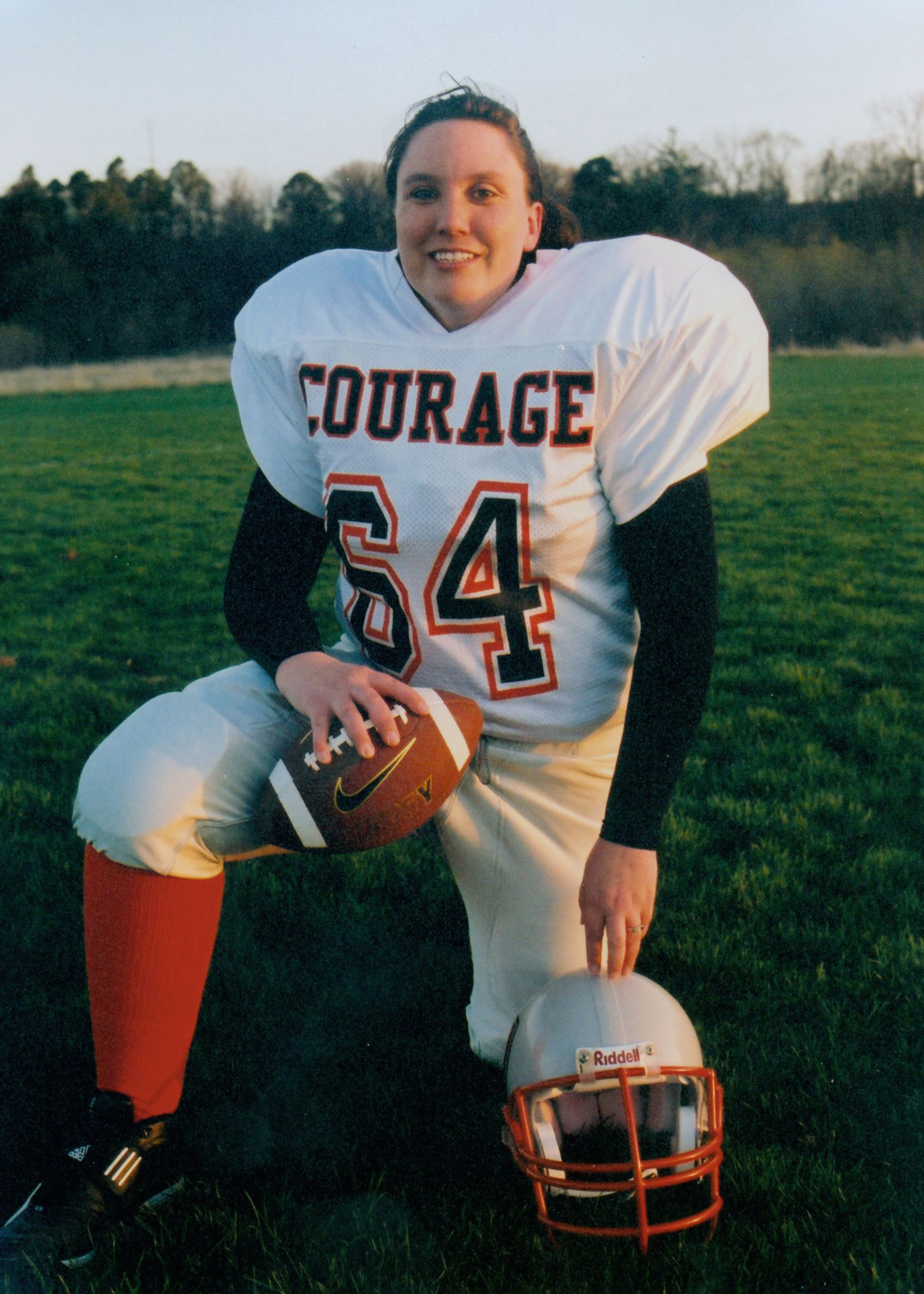 Female pro football players out to win … respect