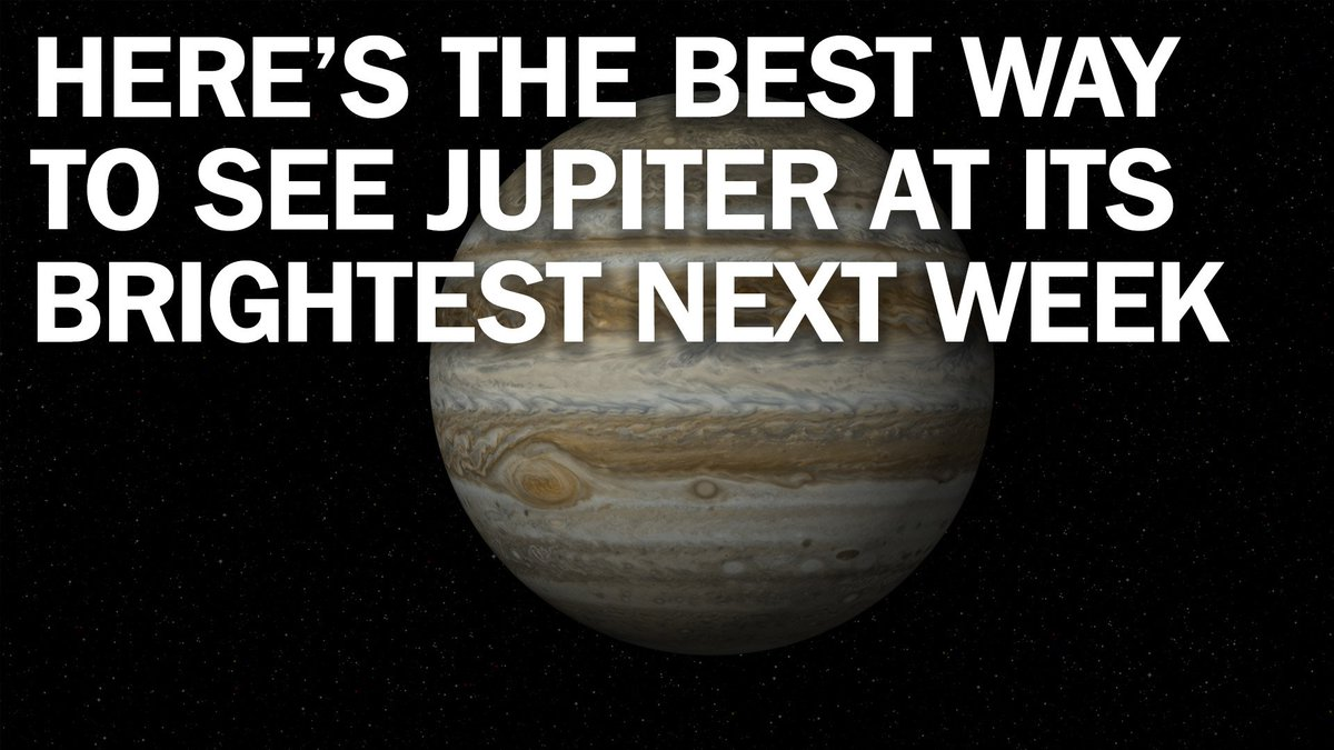 Jupiter will appear its biggest, brightest and most ...