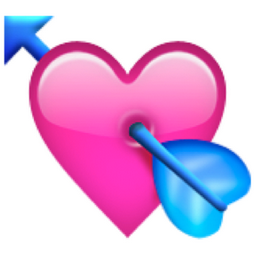 Heart with Arrow Emoji (U+1F498/U+E329)