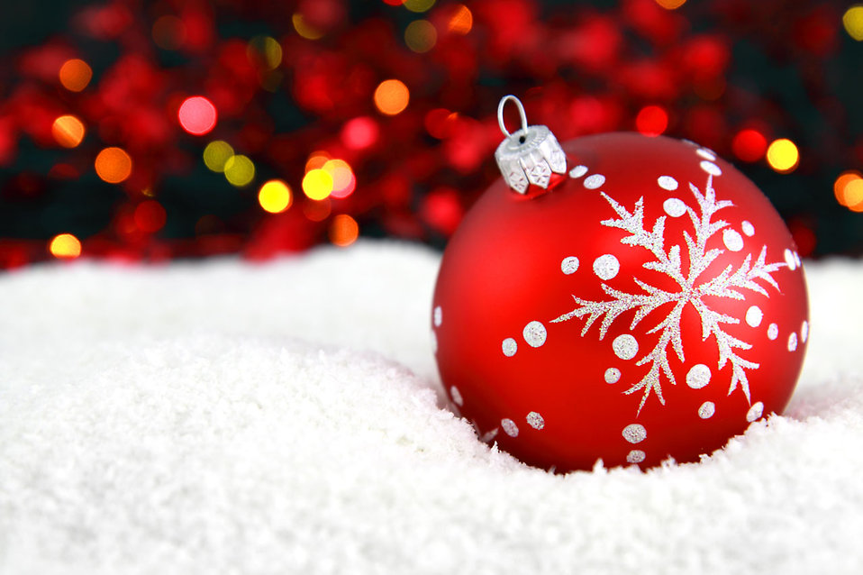 Christmas Ornament | Free Stock Photo | A red Christmas ...