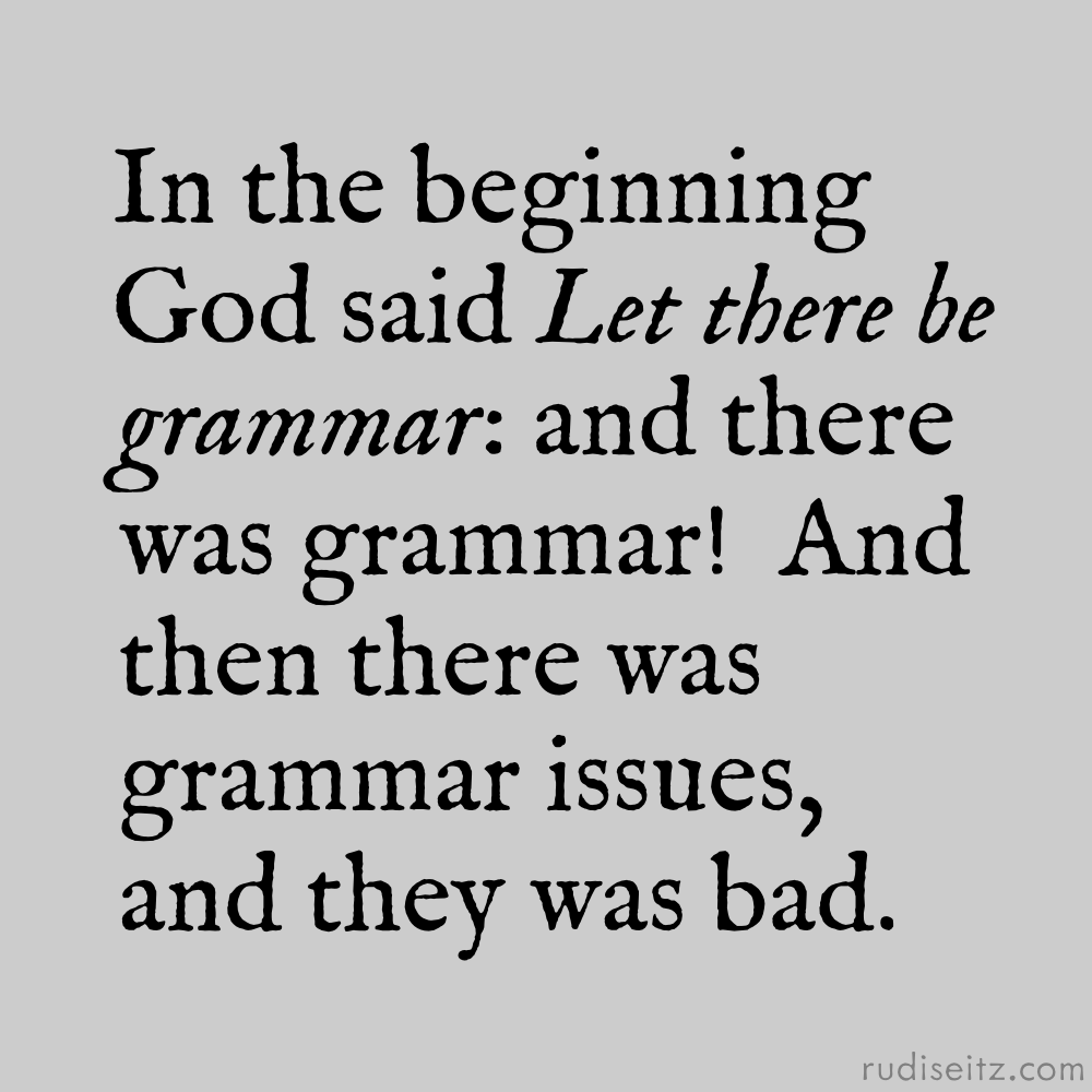 Unicorn Bell: Bad Grammar and Typos