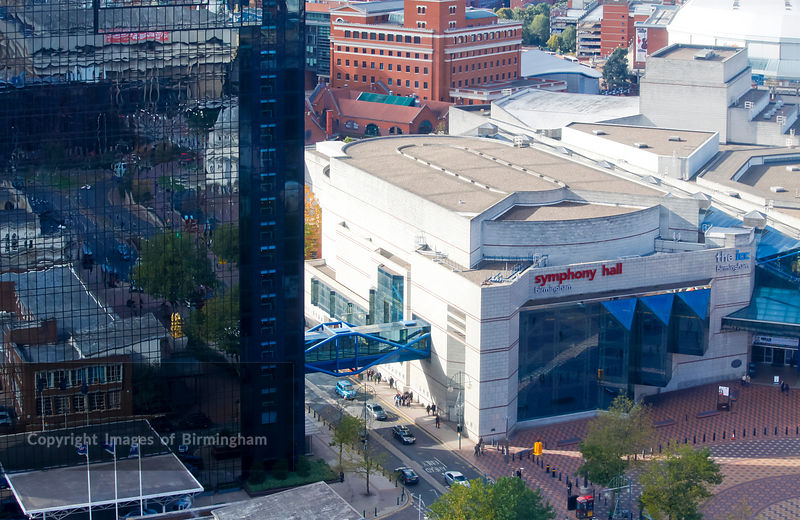 Images of Birmingham Photo Library Aerial view of Symphony ...