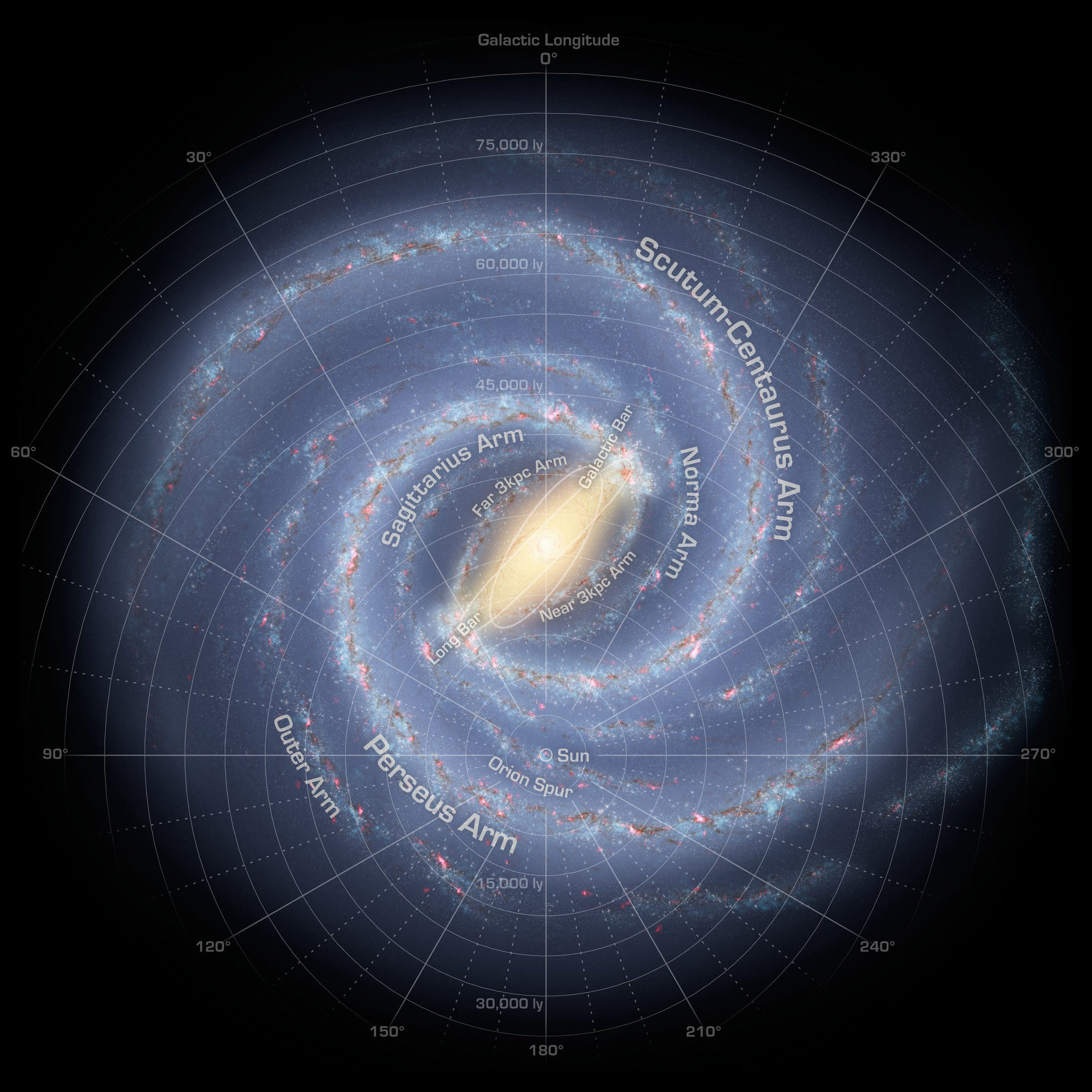 Here's what the Milky Way may look like from deep space ...
