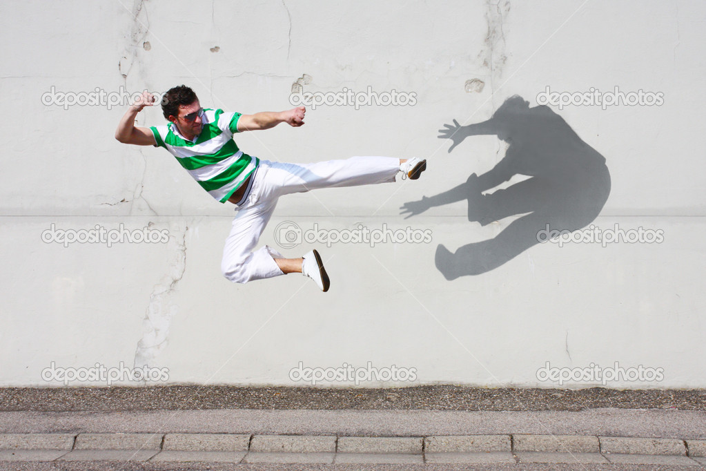 Fight against the own shadow — Stock Photo © photochecker ...