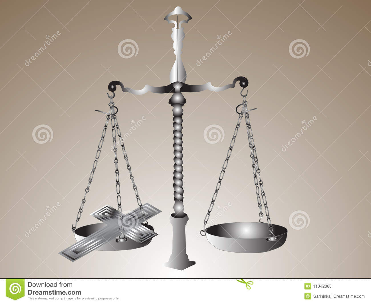 Scales With Cross Stock Photo - Image: 11042060