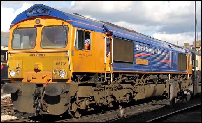 GBRf Class 66718 at Wansford on 3rd March 2007