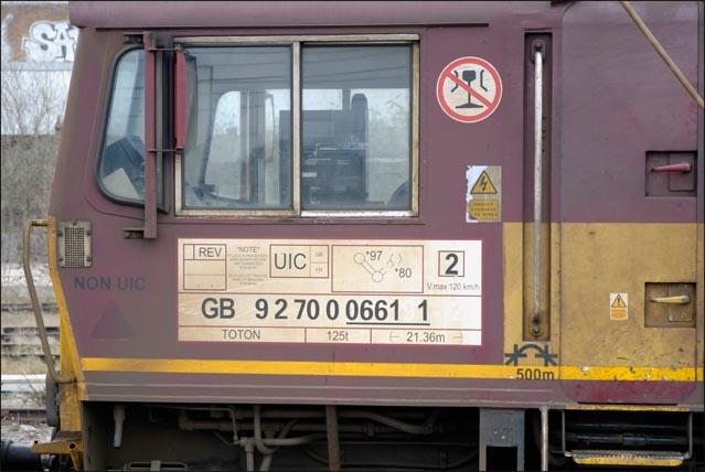 Euro Cargo Rail class 66191 at Peterborough