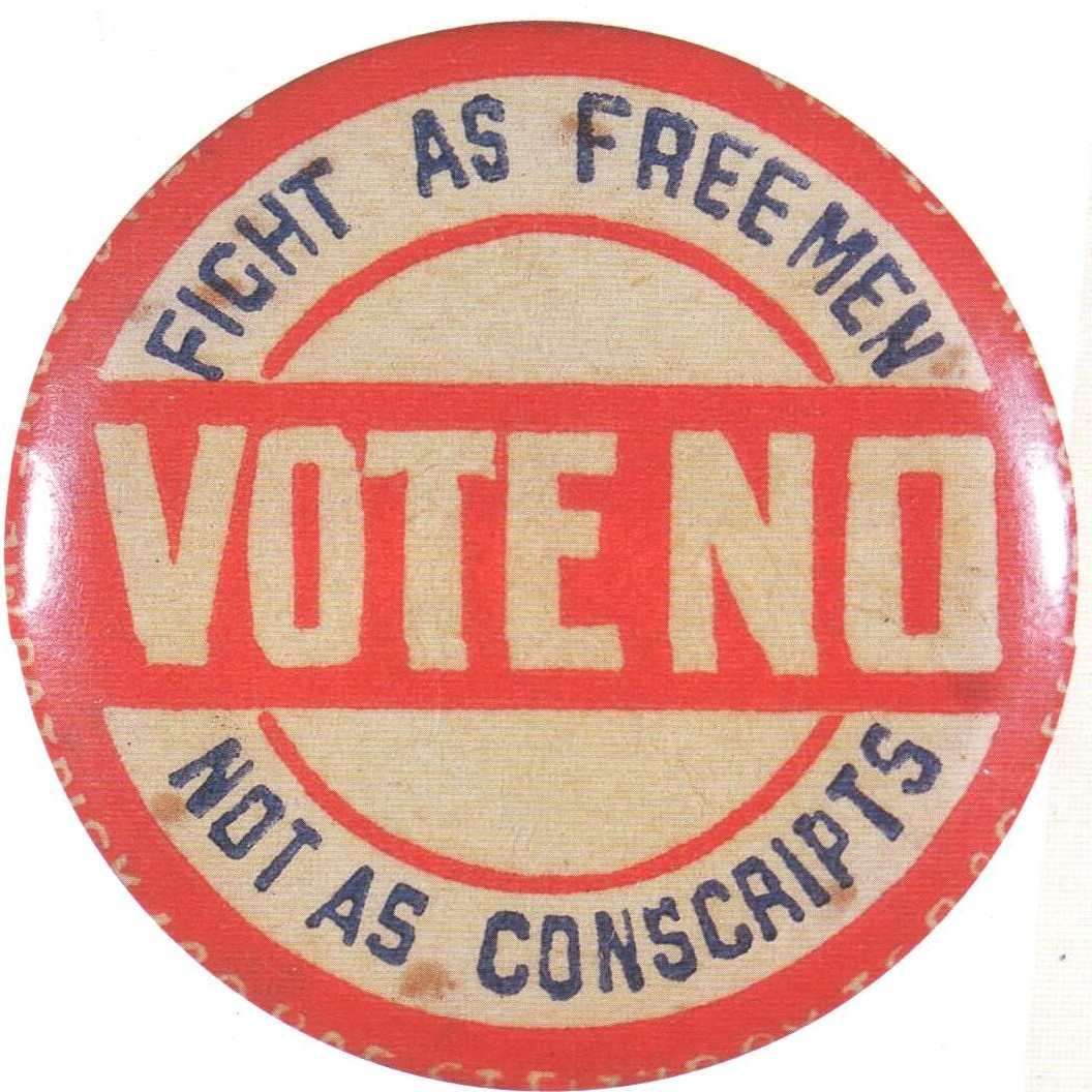 File:Anti-conscription badge.JPG